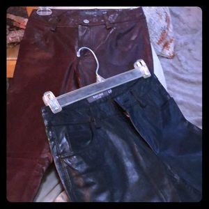 Two size 0 genuine leather pants